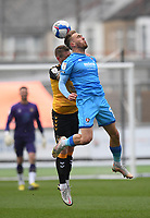Football - 2020 / 2021 Sky Bet League Two - Newport County  vs Cheltenham Town - Rodney Parade<br /> <br /> Sam Smith of Cheltenham Town battles with Scot Bennett of Newport County.<br /> <br /> COLORSPORT/ASHLEY WESTERN