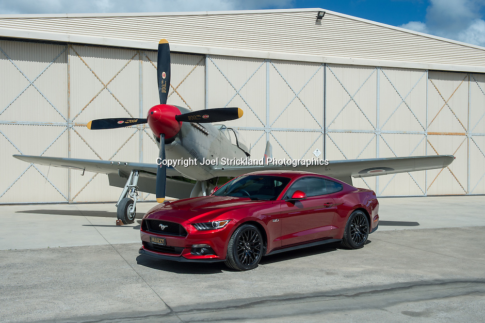 Ford Mustang Car and Plane Photo Shoot with P51 Mustang - Tyabb Airport - 25th September 2016