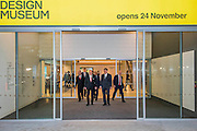 The Duke Leaves - The Duke of Edinburgh opens the new Design Museum in Kensington. The Design Museum has moved to Kensington High Street from its former home as an established London landmark on the banks of the river Thames.  The new museum will be devoted to contemporary design and architecture, an international showcase for the many design skills at which Britain excels and a creative centre, promoting innovation and nurturing the next generation of design talent. His Royal Highness toured the museum to view the transformation of a modernist building from the 1960s, which was the former Commonwealth Institute.  14 November 2016, London.