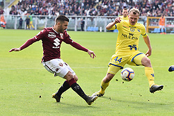 March 3, 2019 - Torino, Torino, Italia - Foto Claudio Grassi/LaPresse.03 marzo 2019 Torino (TO) Italia.sport .calcio.Torino vs ChievoVerona - Campionato di calcio Serie A TIM 2018/2019 - Stadio Olimpico Grande Torino..Nella foto: Iago Falque (#14 Torino) vs Pawel Jaroszynski (#44 ChievoVerona)..Photo Claudio Grassi/LaPresse.March 03, 2019 Turin (TO) Italy.sport .soccer.Torino FC vs AC ChievoVerona - Italian Football Championship League Serie A TIM 2018/2019 - Olimpico Grande Torino Stadium..In the pic: (Credit Image: © Claudio Grassi/Lapresse via ZUMA Press)