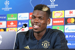 November 6, 2018 - Turin, Piedmont, Italy - Paul Pogba (Manchester Utd. FC) during the press conference on the eve of the UEFA Champions League match between Juventus FC and Manchester United FC,  at Allianz Stadium on November 06, 2018 in Turin, Italy. (Credit Image: © Massimiliano Ferraro/NurPhoto via ZUMA Press)