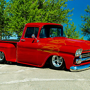 1958 Chevrolet Pickup Truck on pavement.