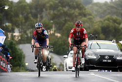 Alexis Ryan (USA) and Julia Soek (NED) approach the top of the final categorised climb during the 2020 Cadel Evans Great Ocean Road Race - Deakin University Women's Race, a 121 km road race in Geelong, Australia on February 1, 2020. Photo by Sean Robinson/velofocus.com