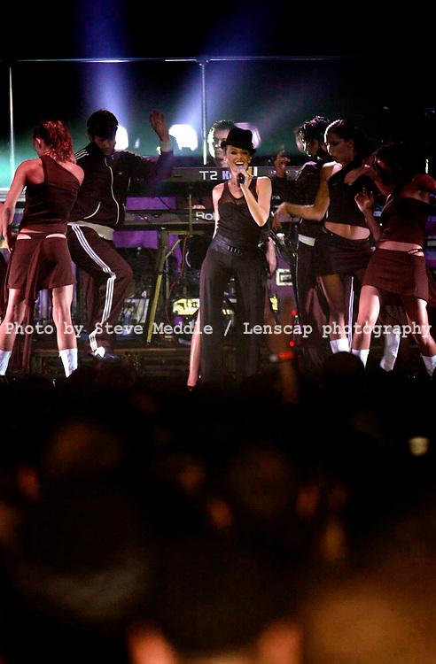 Kylie Minogue, V2001, Hylands Park, Chelmsford, Essex, Britain - 19 August 2001