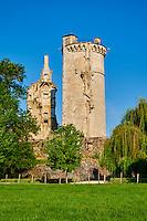"""France, Cher (18), Berry, Mehun-sur-Yèvre, labellisée """"ville et métiers d'art"""", Chateau de Jean de Berry et musée Charles VII, route Jacques Coeur // France, Cher (18), Berry, Mehun-sur-Yèvre, approved """"city and metiers of Arts"""", the Jacques Coeur road, castle of Jean de Berry, and museum of Charles VII"""
