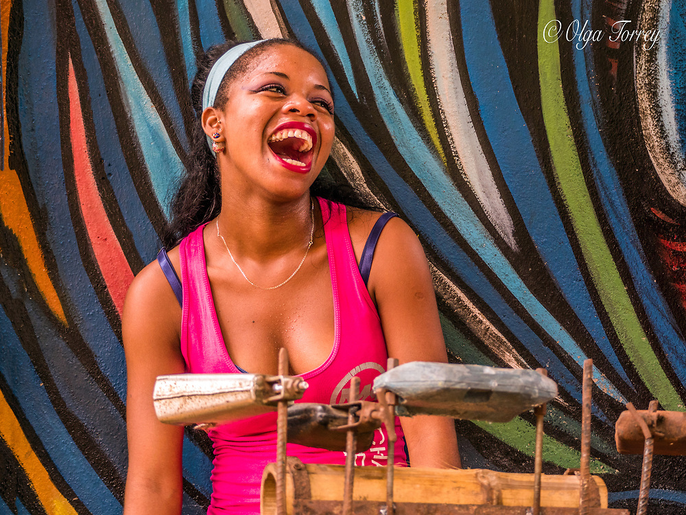 A young musician in Havana, Cuba.