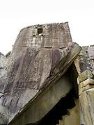 The Royal Tomb at the Incan ruins of Machu Picchu, near Aguas Calientes, Peru.