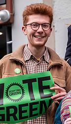 Pictured: Ben Parker<br /><br />Scottish Green Party co-leader Lorna Slater and Lothian MSP Alison Johnstone joined Edinburgh General Election candidates as they canvased voters..<br /><br />Ger Harley | EEm 12 November 2019