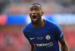 Chelsea's Antonio Rudiger celebrates victory at the final whistle