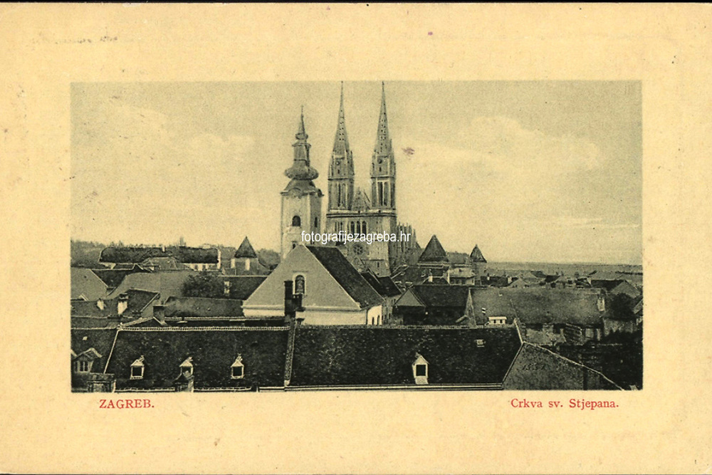Zagreb : Crkva sv. Stjepana. <br /> <br /> ImpresumBp. [Budapest] : W. L., 1911.<br /> Materijalni opis1 razglednica : tisak ; 9 x 14 cm.<br /> Mjesto izdavanjaBudimpešta<br /> Vrstavizualna građa • razglednice<br /> ZbirkaGrafička zbirka NSK • Zbirka razglednica<br /> Formatimage/jpeg<br /> PredmetZagreb –– Kaptol<br /> Katedrala Uznesenja Marijina (Zagreb) • Crkva sv. Marije (Zagreb)<br /> SignaturaRZG-KAP-53<br /> Obuhvat(vremenski)20. stoljeće<br /> NapomenaRazglednica je putovala.<br /> PravaJavno dobro<br /> Identifikatori000955550<br /> NBN.HRNBN: urn:nbn:hr:238:568860 <br /> <br /> Izvor: Digitalne zbirke Nacionalne i sveučilišne knjižnice u Zagrebu