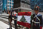 Tradizionale sfilata di polizia in Plaza Indipendencia in occasione del 185 ° anniversario dalla nascita della Costituzione Uruguaiana.  Christian Mantuano / OneShot