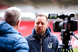Bristol Rovers manager Ben Garner in his post match press conference at Doncaster Rovers - Mandatory by-line: Robbie Stephenson/JMP - 26/09/2020 - FOOTBALL - The Keepmoat Stadium - Doncaster, England - Doncaster Rovers v Bristol Rovers - Sky Bet League One