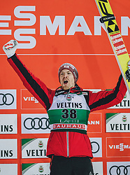 01.03.2020, Salpausselkae Hill, Lahti, FIN, FIS Weltcup Ski Sprung, Herren, Siegerehrung, im Bild 3. Plart Michael Hayboeck (AUT) // 3rd placed Michael Hayboeck of Austria during the winner ceremony for the men's ski jumping competition of FIS Ski Jumping World Cup at the Salpausselkae Hill in Lahti, Finland on 2020/03/01. EXPA Pictures © 2020, PhotoCredit: EXPA/ JFK