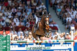 LAMAZE Eric (CAN), Fine Lady<br /> Aachen - CHIO 2018<br /> Rolex Grand Prix 1. Umlauf<br /> Der Grosse Preis von Aachen<br /> 22. Juli 2018<br /> © www.sportfotos-lafrentz.de/Stefan Lafrentz