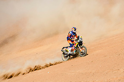 Toby Price (AUS) of Red Bull KTM Factory Team races during stage 05 of Rally Dakar 2019 from Monquegua, to Arequipa, Peru on January 11, 2019 // Marcelo Maragni/Red Bull Content Pool // AP-1Y3JHSTAH1W11 // Usage for editorial use only // Please go to www.redbullcontentpool.com for further information. //