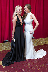 © Licensed to London News Pictures . 16/05/2015 .  The Palace Hotel , Manchester , UK . Jorgie Porter and Gemma Merna . The red carpet at the 2015 British Soap Awards , The Palace Hotel , Oxford Road , Manchester . Photo credit : Joel Goodman/LNP