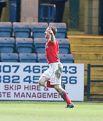 Ross County's Craig Curran (11) cele scoring their goal. <br /> Dundee 1 v 1 Ross County, SPFL Premiership game player 4/1/2015 at Dundee's home ground Dens Park.