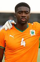 Photo: Steve Bond/Richard Lane Photography.<br /> Ivory Coast v Benin. Africa Cup of Nations. 25/01/2008. Kolo Toure lines up for Ivory Coast