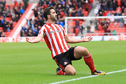 March 16, 2019 - Sunderland, Tyne and Wear, United Kingdom - Sunderland's Will Grigg celebrates scoring his side's second goal  during the Sky Bet League 1 match between Sunderland and Walsall at the Stadium Of Light, Sunderland on Saturday 16th March 2019. (Credit: Steven Hadlow | MI News) (Credit Image: © Mi News/NurPhoto via ZUMA Press)