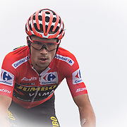 14-09-2019: Ronde van Spanje: Arenas de San Pedro: Plataforma de Gredos Jumbo Visma team, Primoz Roglic, Puerto de Pena Negra. stage 20, red jersey, Sunnweb team, Vuelta a Espana 2019