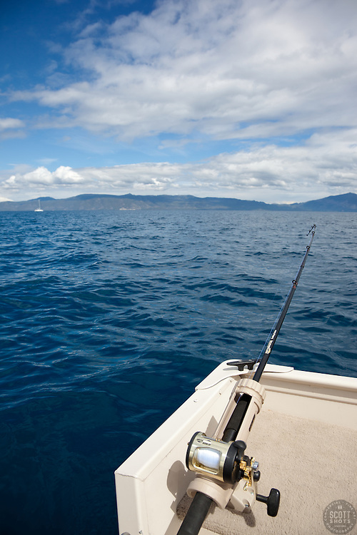 """""""Fishing Pole on Lake Tahoe 7"""" - This fishing pole was photographed on the West shore of Lake Tahoe."""