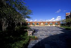 Long view of courtyard