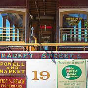 Detail of a San Francisco cable car