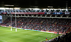 A full Atyeo Stand at Ashton Gate watch The Playoff Final between Bristol Rugby and Doncaster Knights- Mandatory byline: Robbie Stephenson/JMP - 25/05/2016 - RUGBY UNION - Ashton Gate Stadium - Bristol, England - Bristol Rugby v Doncaster Knights - Greene King IPA Championship Play Off FINAL 2nd Leg.