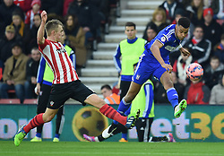 Ipswich Town's Tyrone Mings takes a shot - Photo mandatory by-line: Paul Knight/JMP - Mobile: 07966 386802 - 04/01/2015 - SPORT - Football - Southampton - St Mary's Stadium - Southampton v Ipswich Town - FA Cup Third Round