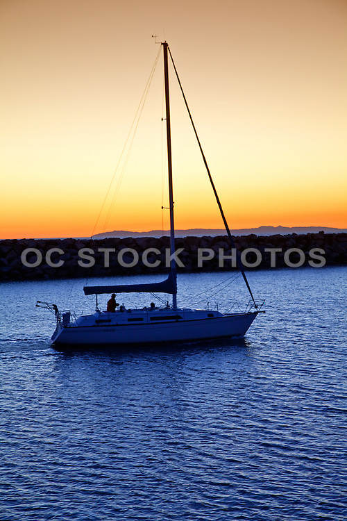 Sailing In The Dana Point Harbor