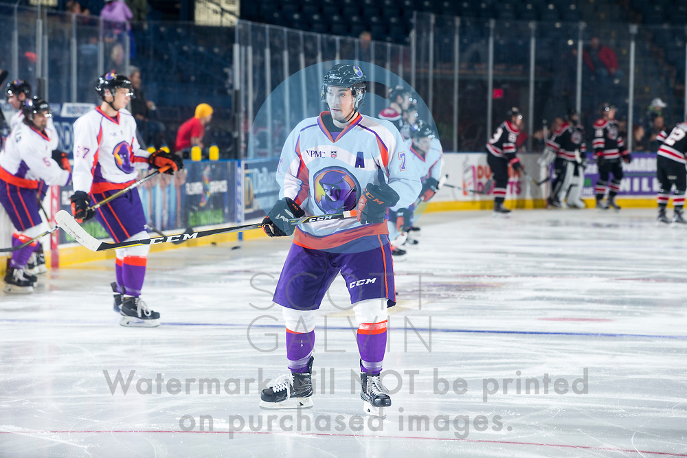 The Youngstown Phantoms defeat the Chicago Steel 4-3 in overtime at the Covelli Centre on November 18, 2017.<br /> <br /> Eric Esposito, right wing, 7