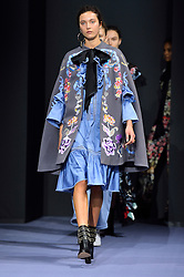 © Licensed to London News Pictures. 21/02/2016. Models on the catwalk at the Temperley show at the London Fashion Week Autumn/Winter 2016 show. Models, buyers, celebrities and the stylish descend upon London Fashion Week for the Autumn/Winters 2016 clothes collection shows. London, UK. Photo credit: Ray Tang/LNP