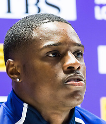 London, 03 August 2017. Christian Coleman, 2016 Rio Olympian & 2017 100m world leader at the Team USATF press conference ahead of the IAAF World Championships London 2017 at the London Stadium.