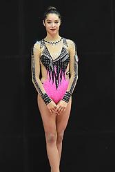 July 28, 2018 - Chieti, Abruzzo, Italy - Rhythmic gymnast Alexandra Agiurgiuculese of Italy during the Rhythmic Gymnastics pre World Championship Italy-Ukraine-Germany at Palatricalle on 29th of July 2018 in Chieti Italy. (Credit Image: © Franco Romano/NurPhoto via ZUMA Press)