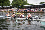 Henley Royal Regatta, Henley on Thames, Oxfordshire, 28 June - 2 July 2017.  Saturday  15:38:04   01/07/2017  [Mandatory Credit/Intersport Images]<br /> <br /> Rowing, Henley Reach, Henley Royal Regatta.<br /> <br /> The Women's Four<br />  Oxford Brookes University and Melbourne University, Australia v  New York Athletic Club, U.S.A.
