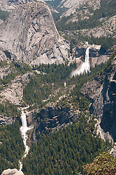 Nevada Falls, Vernal Falls, from Glacier Point, Yosemite National Park, California, USA.  Photo copyright Lee Foster.  Photo # california121283