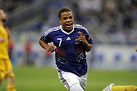 FOOTBALL - UEFA EURO 2012 - QUALIFYING - GROUP D - FRANCE v ROMANIA - 9/10/2010 - PHOTO JEAN MARIE HERVIO / DPPI - JOY LOIC REMY (FRA) AFTER HIS GOAL