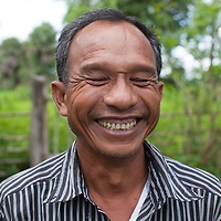 Portrait of a man in a rural area of Takéo province, Cambodia