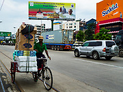 22 NOVEMBER 2017 - YANGON, MYANMAR: Billboards on Strand Road, near the Twante Canal waterfront area, welcome Pope Francis to Myanmar. The Pope is scheduled to visit Myanmar November 27-30.     PHOTO BY JACK KURTZ