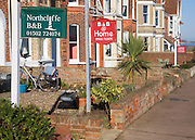Bed and breakfast accommodation signs, Southwold, Suffolk, England
