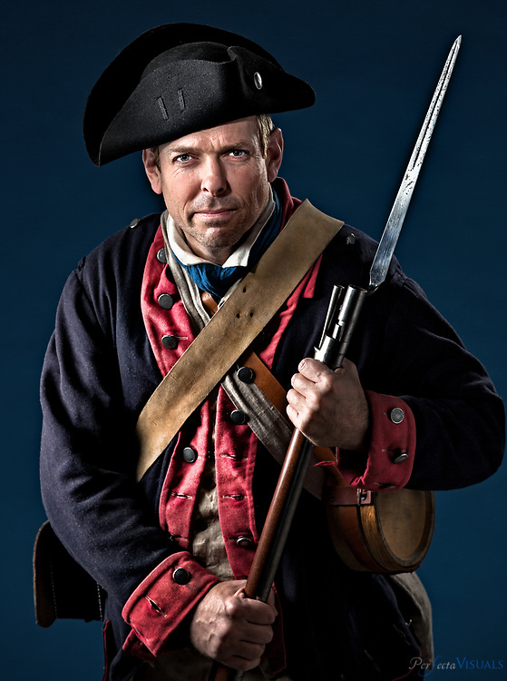 6th North Carolina Regiment's Scott Carter.<br /> <br /> Our State magazine cover shoot, Tuesday, January 17, 2017, in Greensboro, N.C. <br /> <br /> JERRY WOLFORD and SCOTT MUTHERSBAUGH / Perfecta Visuals