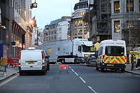 london terror attack scene at London Bridge 30th November 2019. At least two members of the public have died and a male suspect has been shot dead by police at a scene on 29 November after a stabbing at London Bridge photo By roger alarcon