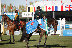 Amaral Felipe, (BRA), Premiere Carthoes Bz <br /> BMO Nations Cup<br /> Spruce Meadows Masters - Calgary 2015<br /> © Hippo Foto - Dirk Caremans<br /> 13/09/15