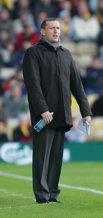 Photo: Frances Leader.<br />Watford v Sheffield Wednesday. Coca Cola Championship.<br />19/11/2005.<br />Watford's manager Adrian Boothroyd.