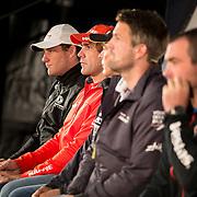 © Maria Muina I MAPFRE. Rueda de prensa de patrones en Cardiff. Skippers Press conference in Cardiff.