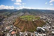 Punchbowl; National Cemetary of the Pacific; Honolulu; Oahu; Hawaii