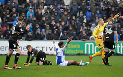 Ellis Harrison of Bristol Rovers appeals for a penalty - Mandatory by-line: Neil Brookman/JMP - 30/03/2018 - FOOTBALL - Memorial Stadium - Bristol, England - Bristol Rovers v Bury - Sky Bet League One