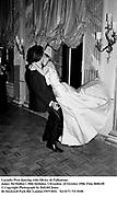 Lucinda West dancing with Olivier de Fallentons. James McMullen's 30th birthday. Clivenden. 24 October 1986. Film 86861f8<br />© Copyright Photograph by Dafydd Jones<br />66 Stockwell Park Rd. London SW9 0DA<br />Tel 0171 733 0108
