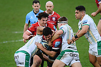 Rugby Union - 2020 / 2021 Gallagher Premiership - Gloucester vs Northampton Saints - Kingsholm<br /> <br /> Gloucester's Matias Alemanno is tackled by Northampton Saints' Paul Hill.<br /> <br /> COLORSPORT/ASHLEY WESTERN