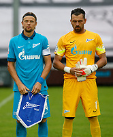 Fotball<br /> 22.07.2014<br /> Foto: Gepa/Digitalsport<br /> NORWAY ONLY<br /> <br /> Derby County FC vs FC Zenit St. Petersburg, IFCS test match. <br /> <br /> Image shows Anatoly Tymoschuk and Yury Lodygin (Zenit).